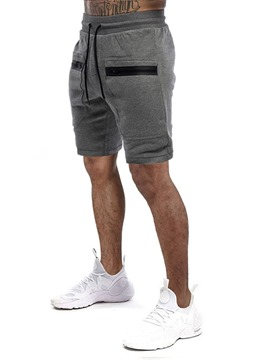 Ericdress Straight Pocket Color Block Sports Lace-Up Men's Shorts