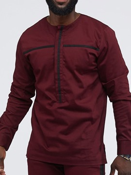 Ericdress Casual Round Neck Fall Straight Men's Shirt