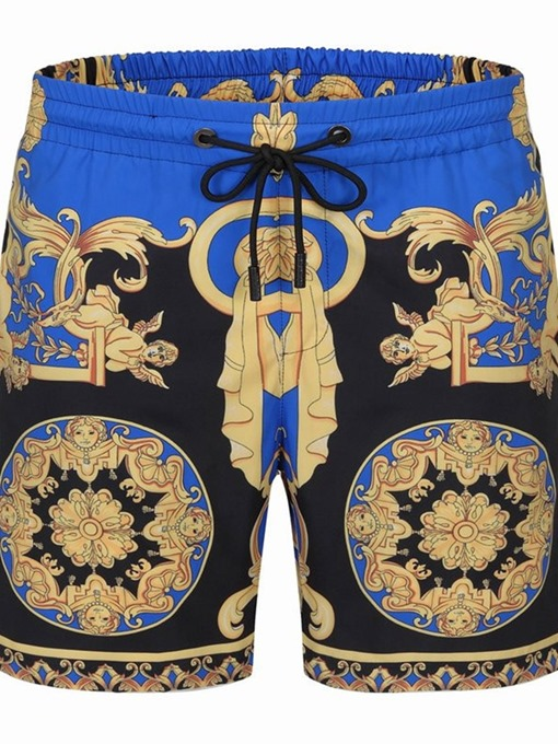 Ericdress Print Thin Floral Lace-Up European Men's Shorts