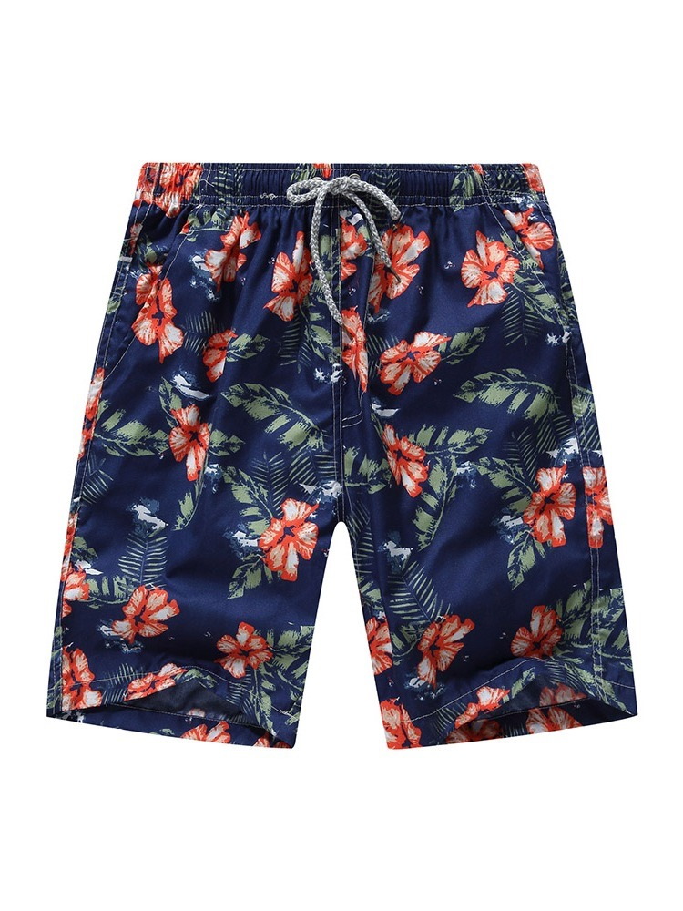 Ericdress Straight Print Thin Lace-Up Men's Shorts