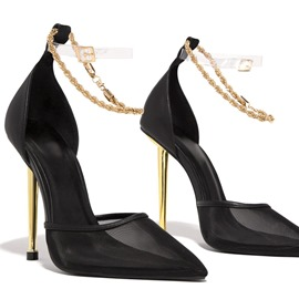Ericdress See-Through Buckle Pointed Toe Plain Women's Thin Shoes