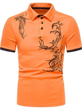 Ericdress Polo Neck Sports Button Men's Polo Shirt