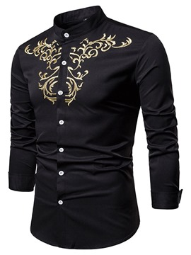 Ericdress Stand Collar Button Men's Casual Shirt