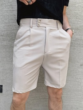 Ericdress Zipper Straight Plain Korean Zipper Men's Casual Shorts