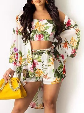 Ericdress Print Floral Fashion Women's Two Piece Sets