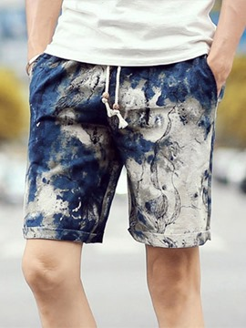 Ericdress Thin Color Block Lace-Up Men's Casual Shorts