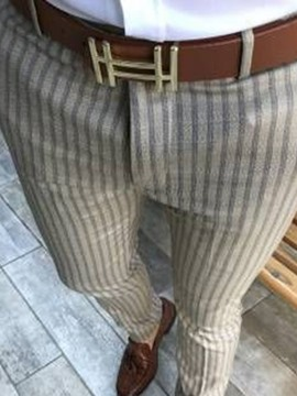 Ericdress Pencil Pants Stripe Men's Casual Pants