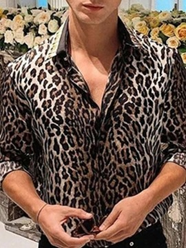 Ericdress European Print Leopard Single-Breasted Men's Shirt