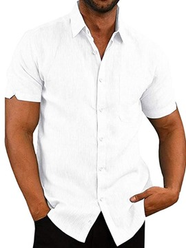 Ericdress Casual Lapel Button Single-Breasted Men's Loose Shirt