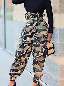 Ericdress Print Loose Camouflage Full Length High Waist Women's Casual Pants