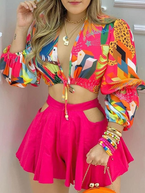 Ericdress Floral Sexy Print Women's Two Piece Sets