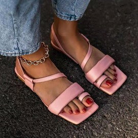 Ericdress Flat With Slip-On Square Toe Women's Sandals
