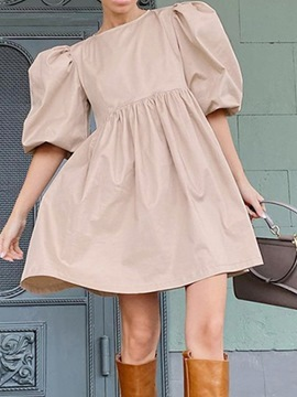 Ericdress Above Knee Half Sleeve Pullover Korean Dress