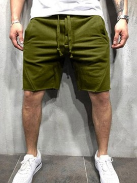 Ericdress Lace-Up Plain Casual Lace-Up Men's Casual Shorts
