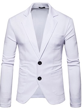 Ericdress Plain Single-Breasted Men's Slim Leisure Blazer