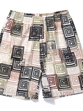 Ericdress Print Geometric Men's Beach Shorts