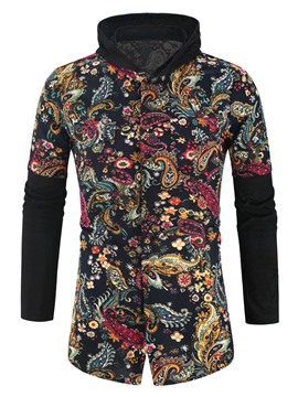 Ericdress Casual Floral Print Men's Slim Shirt