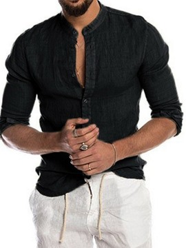 Ericdress Button Casual Plain Single-Breasted Men's Shirt
