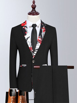 Ericdress Formal One Button Blazer Men's Dress Suit