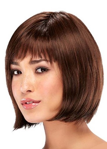 Ericdress Short Bob Hairstyles Women's Straight Bob Style Human Hair Capless Wigs 10Inch