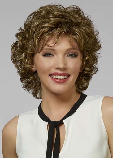 Ericdress Short Bob Hairstyles Women's Big Curly Human Hair Capless Wigs 10Inch