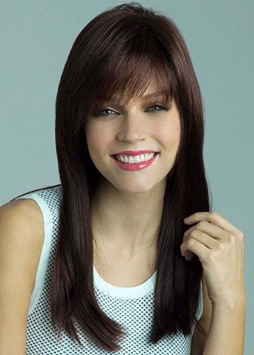 Ericdress Women's Natural Looking Long Length Straight Human Hair Capless Wigs 24Inch