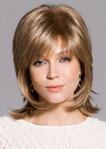 Ericdress Women's Short Layered Shaggy Hairstyles Natural Straight Human Hair Capless Wigs 12Inch