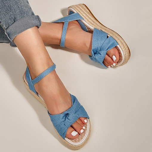 Ericdress Round Toe Buckle Flat With Western Women's Sandals