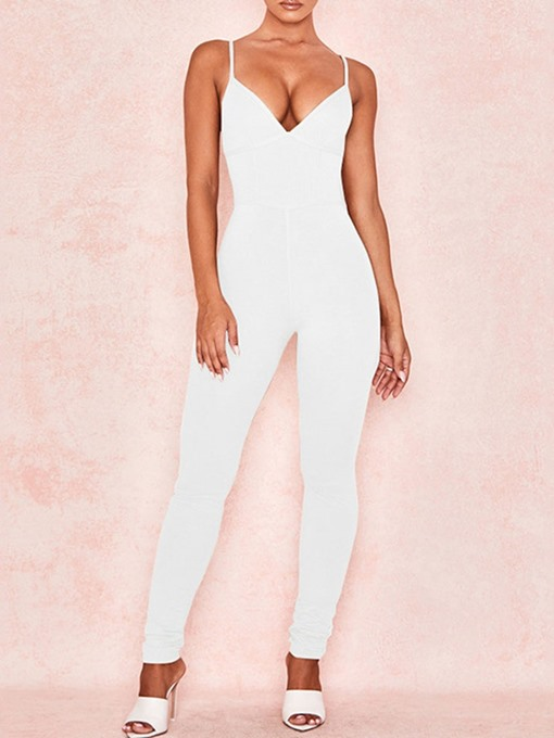 Ericdress Full Length Backless Sexy Skinny Women's Jumpsuit