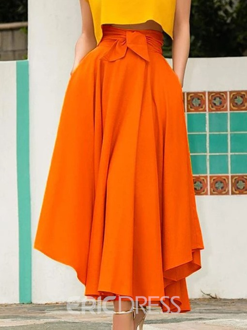 Ericdress Plain Expansion Ankle-Length Casual Skirt