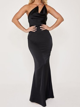 Ericdress Backless Sleeveless Floor-Length Plain Dress
