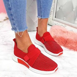 Ericdress Slip-On Rhinestone Round Toe Casual Sneakers