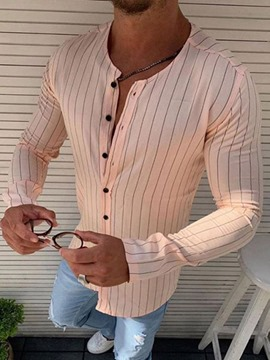 Ericdress Casual Stripe Print Men's Slim Shirt