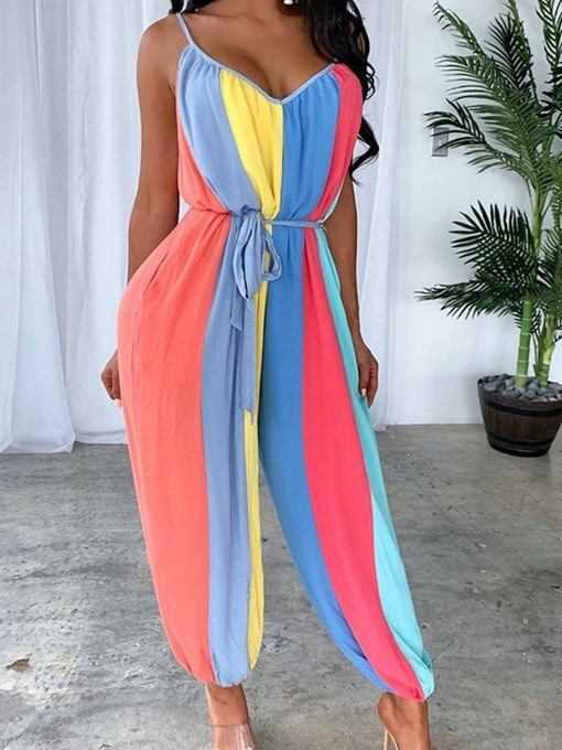 Ericdress Full Length Office Lady Backless Straight Women's Slim Jumpsuit