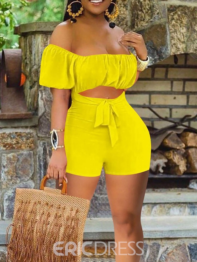 Ericdress Plain Shorts Office Lady Slim Straight Women's Rompers