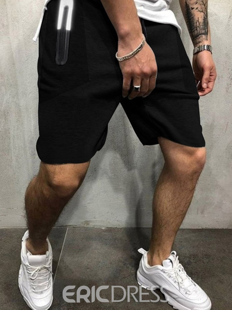 Ericdress Straight Pocket Color Block Sports Lace-Up Men's Casual Pants
