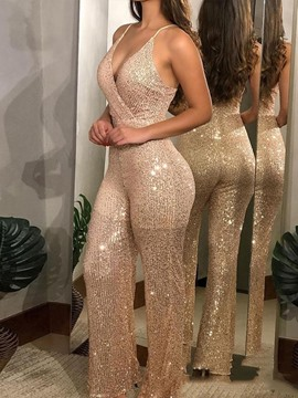 Ericdress Party/Cocktail Full Length Backless Straight Slim Women's Jumpsuit