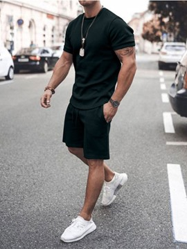 Ericdress Casual Lace-Up Pants Men's Outfit