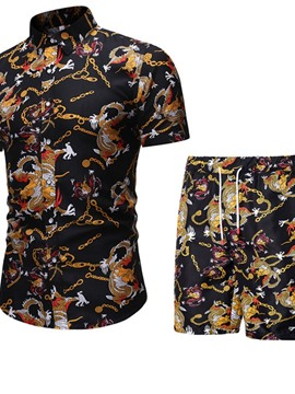 Ericdress Casual Print Shirt Single-BreastedMen's Outfit