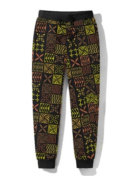 Ericdress Patchwork Geometric Pencil Pants Mid Waist Men's Casual Pants