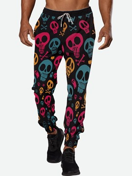 Ericdress Skull Pencil Pants Patchwork Men's Casual Pants
