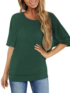 Ericdress Half Sleeve Mid-Length Round Neck Loose Women's Casual T-Shirt