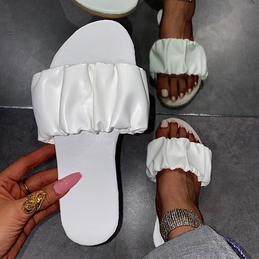 Ericdress Flat With Flip Slip-On Western Slippers