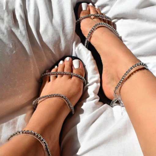 Ericdress Flat With Round Toe Buckle Buckle Women's Sandals