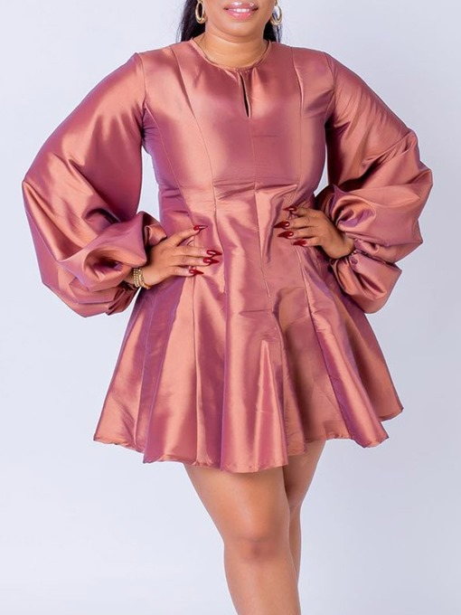 Ericdress Round Neck Long Sleeve Above Knee Pullover Dress