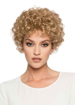 Ericdress Women's Blonde Color Short Length Kinky Curly Synthetic Hair Capless Wigs 8Inch