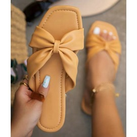 Ericdress Slip-On Bow Toe Ring Women's Casual Slippers