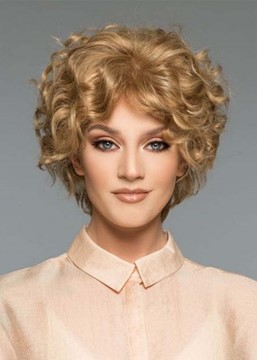 Ericdress Women's Short Length Curly Hairstyles Blonde Synthetic Hair Capless Wigs 10Inch