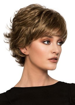 Ericdress Women's Short Layered Hairstyles Natural Looking Wavy Synthetic Hair Capless Wigs 10Inch