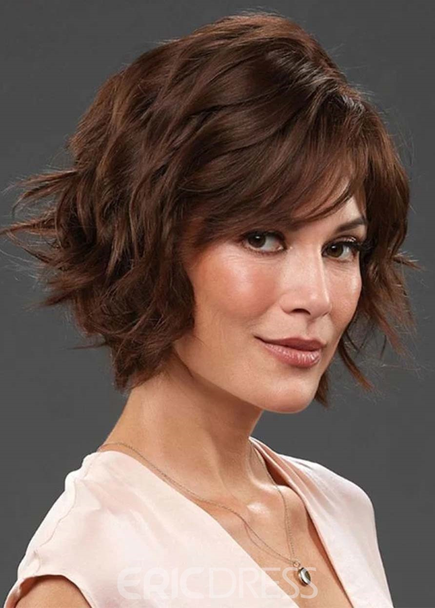 Ericdress Short Layered Hairstyles Women's Wavy Synthetic Hair Capless Wigs 10Inch